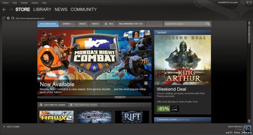 Взломанный Steam клиент 2010 скачать.